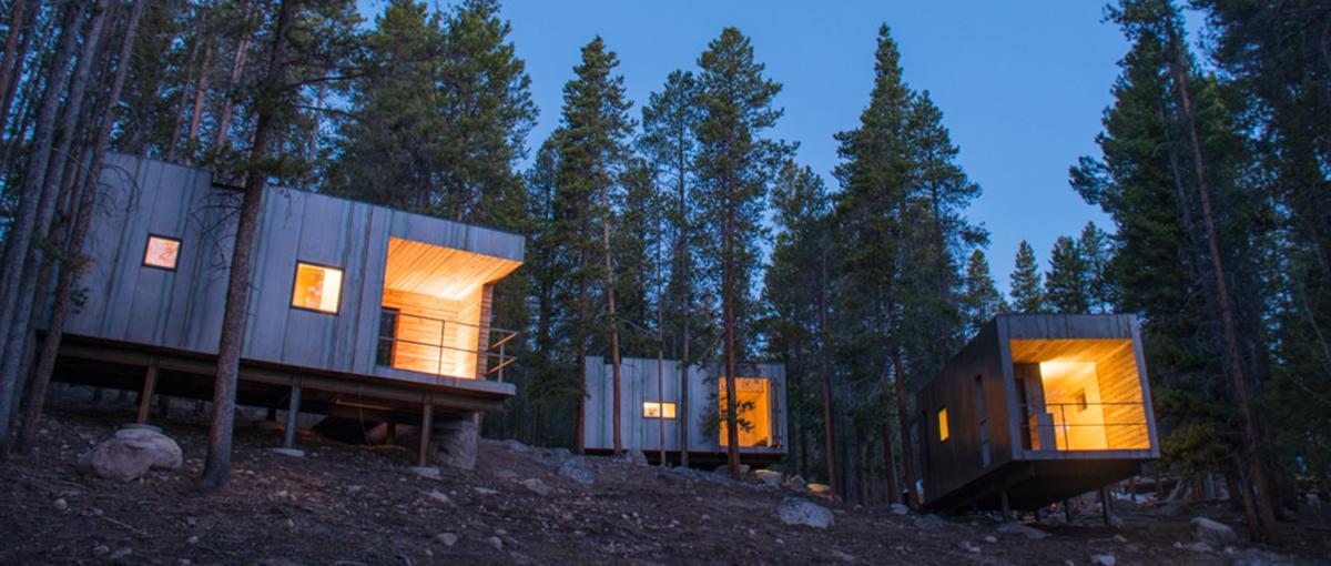 Group of cabins on Leadville hillside