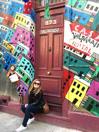 CU Denver student Claire Ransom in Valparaiso