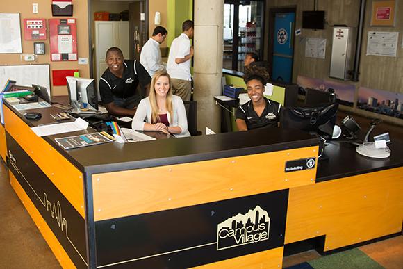 Campus village reception desk