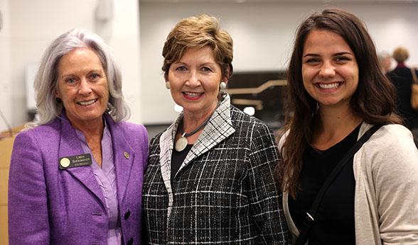 Linda, Dorothy and Allie at CU Denver Campus Forum
