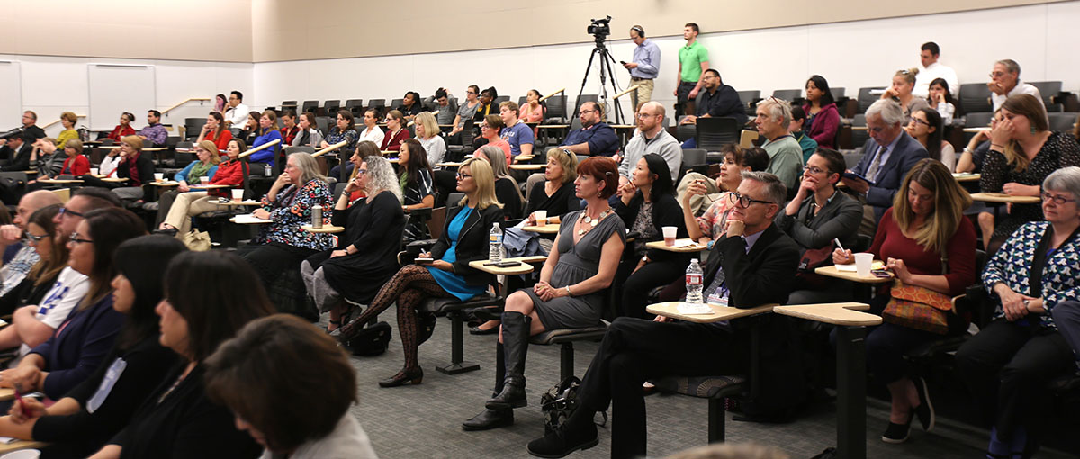 CU Denver Campus Forum crowd