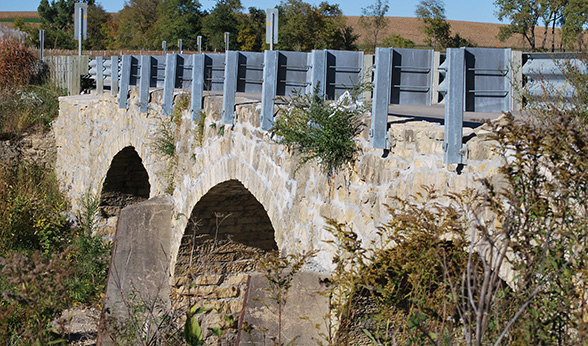 Ely Stone Bridge near Monticello, Iowa
