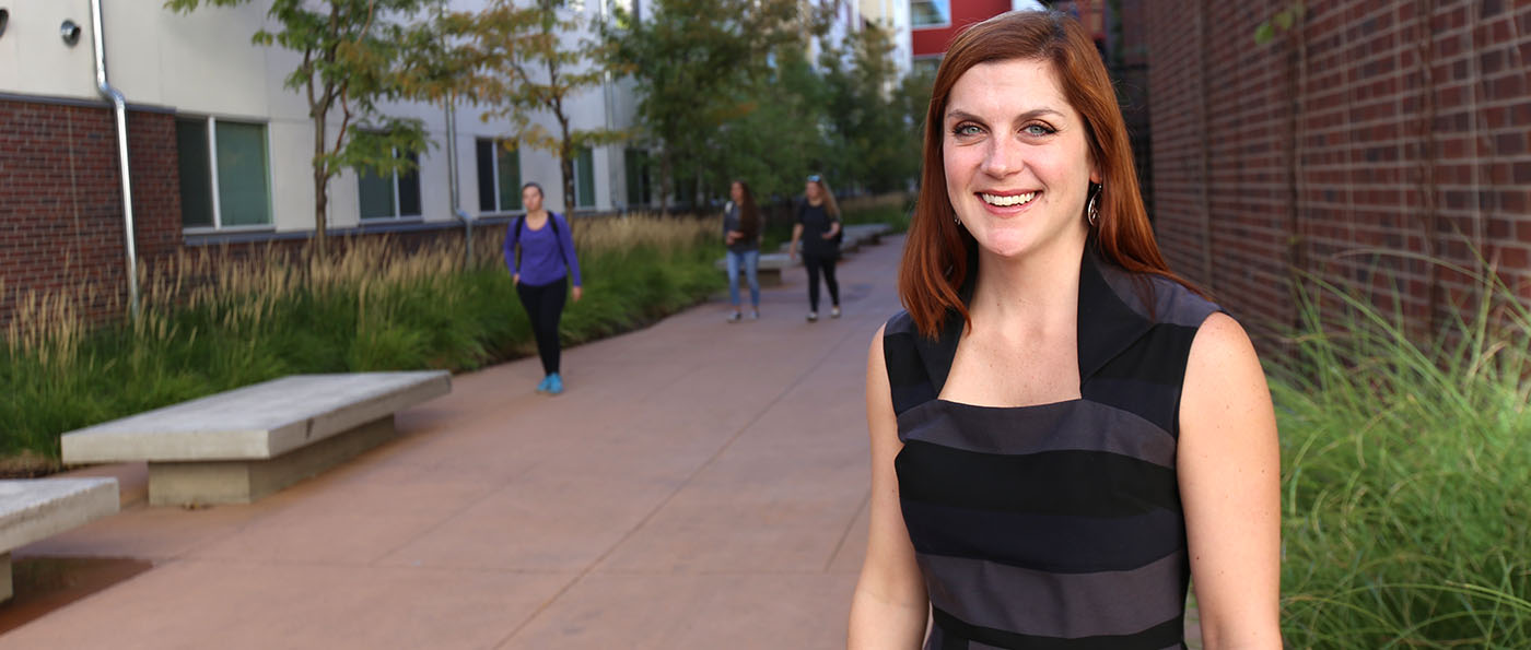 Megan Ray, a CU Denver alumna, loved everything about the university, including living at Campus Village.