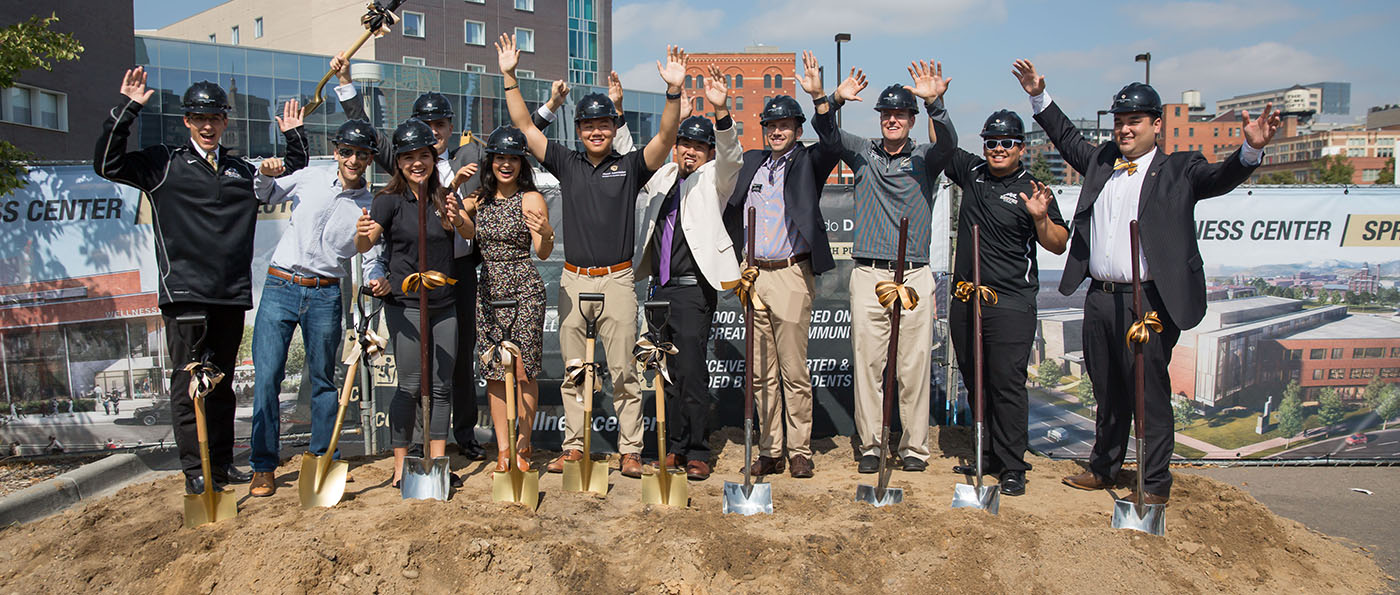 CU Denver Student Wellness Center groundbreak