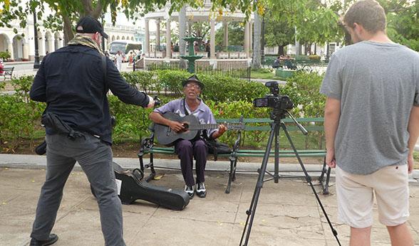Street performer in Cuba