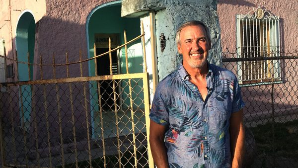 Guillermo Vidal in his Cuban hometown