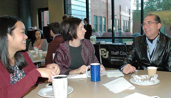 CU Denver staff at the annual staff appreciation breakfast