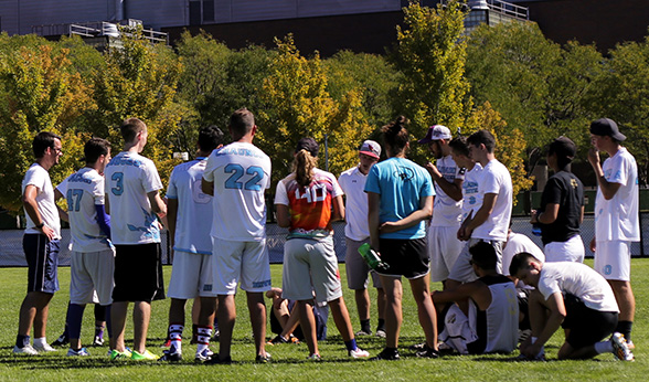 CU Denver Frostbite team huddles up