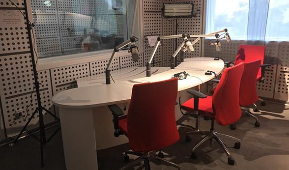Studio space in pirate radio station