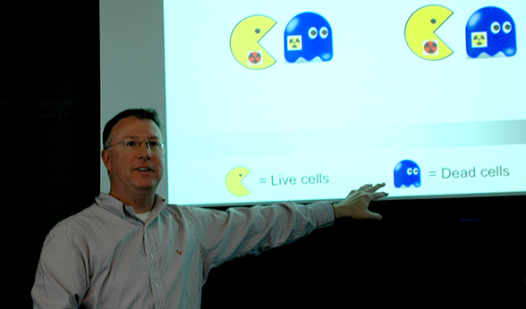 CU Denver professor Chris Phiel during a presentation
