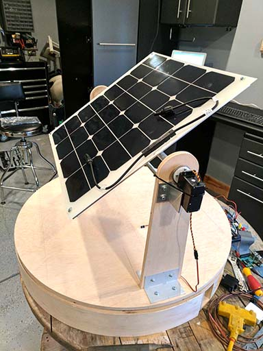 solar unit created by CU Denver students