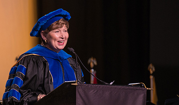 Chancellor Horrell at Fall Commencement, 2016
