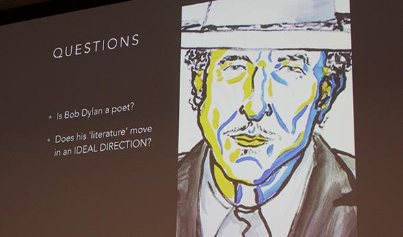 Illustration of Bob Dylan