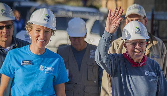 Heather Lafferty with Jimmy Carter
