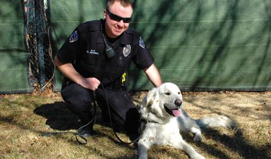 Dash and Officer Corey Averill