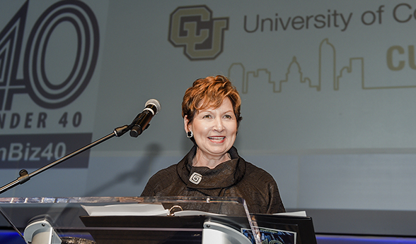 CU Denver Chancellor Dorothy Horrell