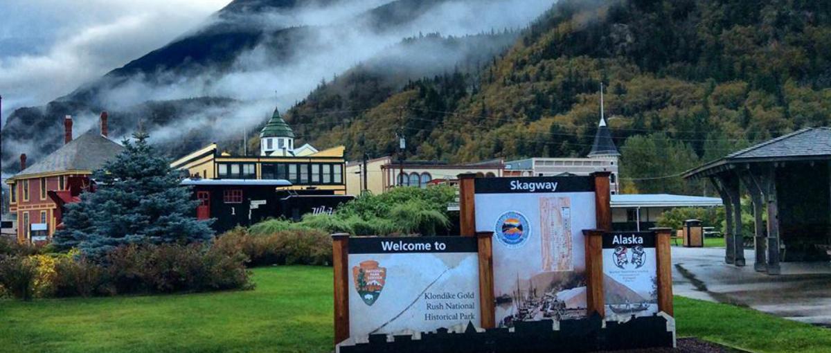 The historic town of Skagway, Alaska