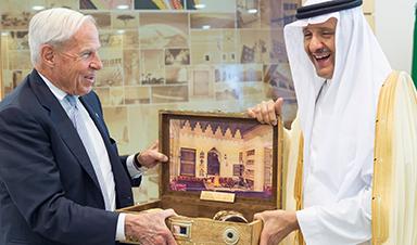 CU President Bruce Benson and Prince Sultan bin Salman