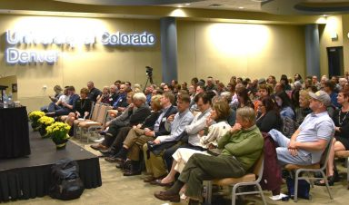 The crowd attending Fake News and Filter Bubbles: Overcoming our Informational Divide