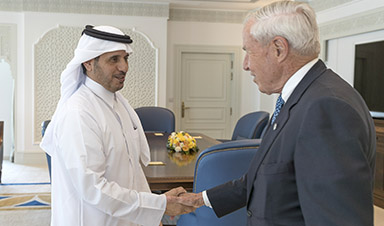 Qatar Prime Minister and CU President Bruce Benson
