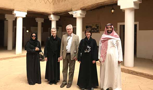 CU team in Saudi Arabia