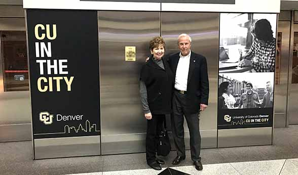CU Denver Chancellor Dorothy Horrell and CU President Bruce Benson
