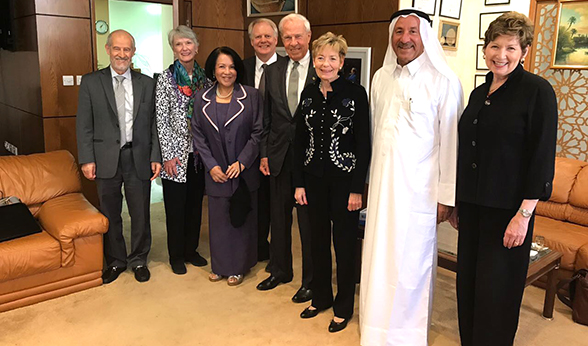CU delegation visits alumnus in Qatar