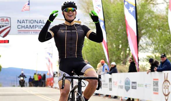 National champion cyclist Cyrus Pearo