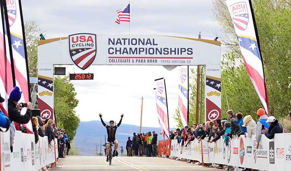 CU Denver cyclist Cyrus Pearo