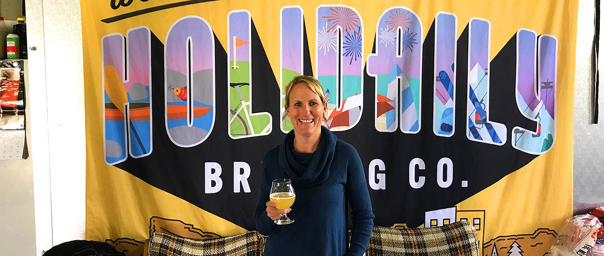 Karen Hertz chief brewista of Holidaily Brewing