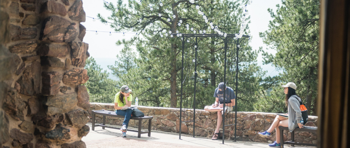 Students visited the Boettcher Mansion in the Lookout Mountain Nature Preserve in Golden as part of the summer's CAP camp. The sketching exercise showcased the historic mansion, considered an architectural gem, and the natural beauty that surrounds Denver.