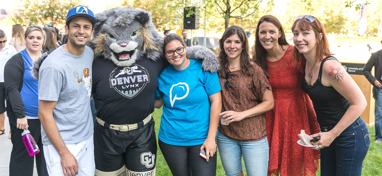CU Denver students at Wellness topping off