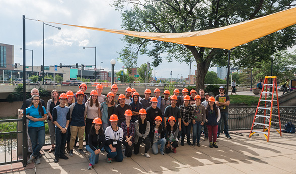 27 high school students visited CU Denver's summer architecture camp in conjunction with the ACE Mentor Program.