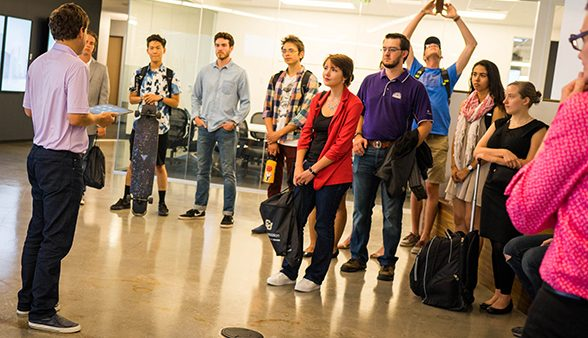 CU Denver students tour Denver company