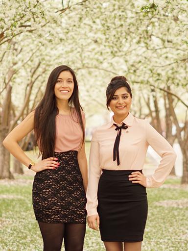 Grecia Portillo and Aleena Sarwana of CU Denver