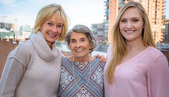 Three generations of CU Denver students