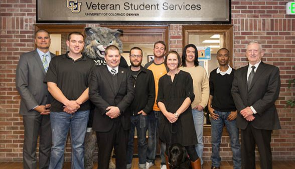 Staff members of CU Denver Veteran Student Services