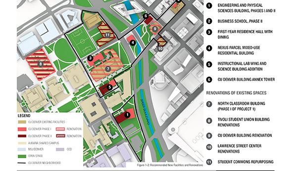 CU Denver Master Plan bird's eye view