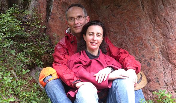 Jeff Franklin with Judy