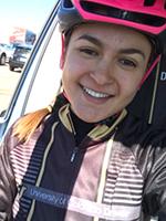 CU Denver cyclist Manuela Escobar