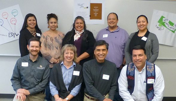 ESIL partners include (top row) Rosa Burnett, Harmony Spoonhunter, Susan Johnson, Ryan Ortiz, Kim Varilek, (bottom row) David Mays, Timberley Roane, Rafael Moreno, and Scott Aikin.