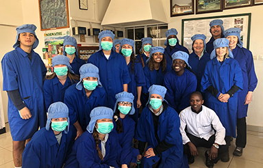 Maymester group in scrubs