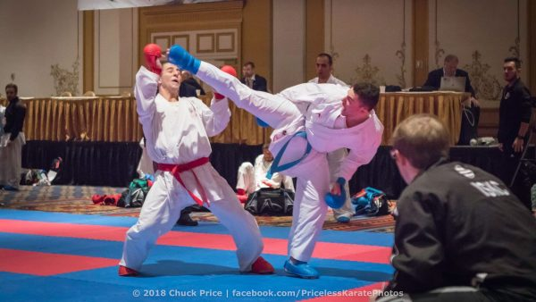 Kamran Madani sparing with opponent