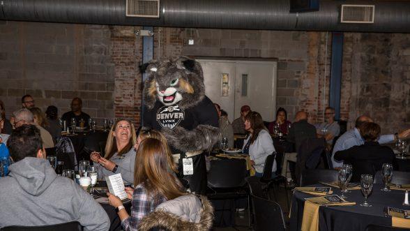 Milo the CU Denver Lynx mascot