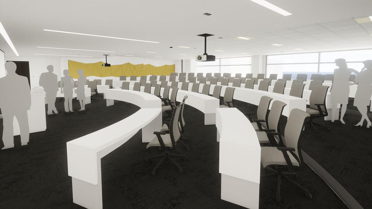 Rendering of auditorium space