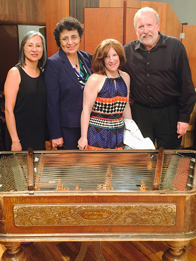 Dean and three others behind cimbalom
