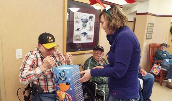 A veteran peeks in gift