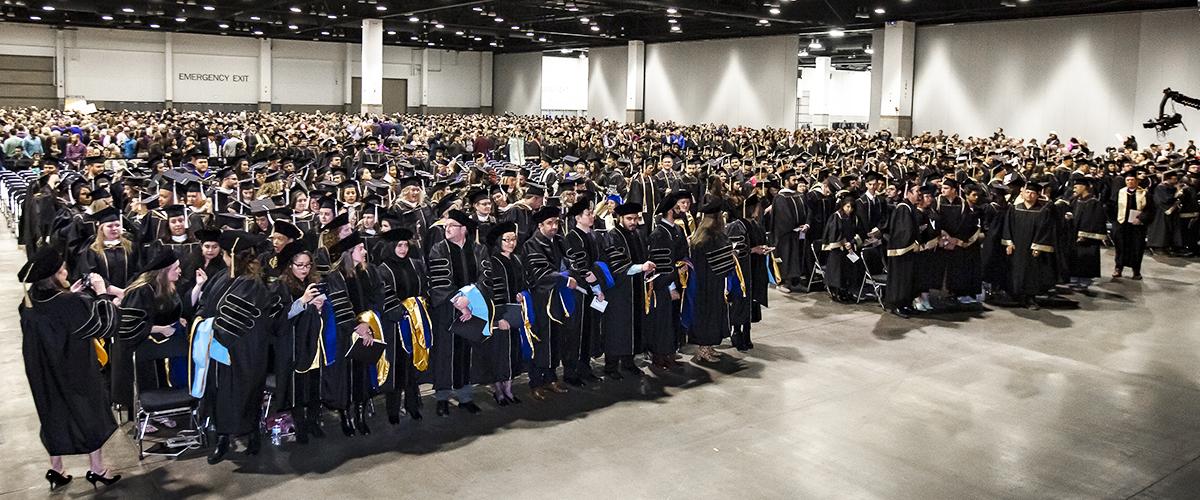 Graduates fill seats