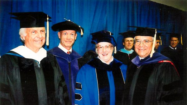 Chancellor Emerita Georgia Lesh-Laurie is standing third from the left.