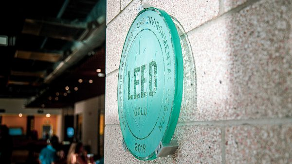 LEED plaque on wall